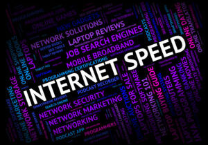 Internet Speed Indicating World Wide Web And Website